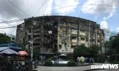 Khu chung cư tiếp tục bị nghiêng, dân sống trong sợ hãi