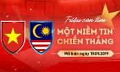 Trực tiếp mua vé bóng đá Việt Nam với Malaysia qua mạng