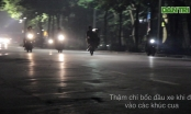 Hà Nội: Toát mồ hôi  xem hàng chục quái xế bốc đầu, đua xe quanh Hồ Gươm