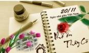 Những lời chúc ý nghĩa dành tặng thầy cô ngày Nhà giáo Việt Nam 20/11