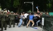Diễn tập xử lý tình huống tập trung đông người khiếu kiện, gây rối tại Hà Nội