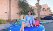 Hoa hậu Phạm Hương liên tục khoe siêu xe hàng khủng