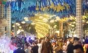 Người dân chen chân, thích thú tham quan đường hoa Nguyễn Huệ