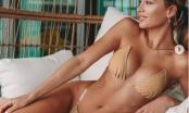 Siêu mẫu yêu cuồng nhiệt Cristiano Ronaldo gợi cảm với bikini bé xíu