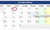 Chi tiết lịch nghỉ Lễ dịp Quốc khánh 2/9/2020