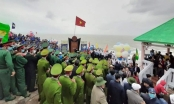 Lễ chào cờ đón năm mới tại điểm cực Đông đất liền