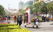 Đường hoa Nguyễn Huệ sau hơn 10 ngày thi công