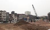 Tiến độ Dự án cải tạo chung cư cũ 93 Láng Hạ: Máy móc tích cực thi công
