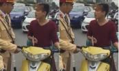Nam thanh niên chở gas cãi cùn khi bị cảnh sát giao thông dừng xe