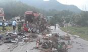 Nóng: Xe tải tông xe khách tại Hòa Bình, 34 người thương vong