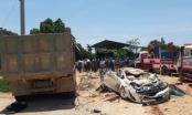 Tại nạn kinh hoàng: Xe hổ vồ chở đất đè bẹp xe ô tô con khiến 4 người thương vong