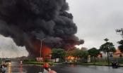 Nóng: Đang cháy lớn tại KCN Yên Phong, khói lửa bốc cháy dữ dội