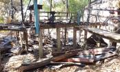Bàng hoàng phát hiện một thi thể một người đàn ông chết cháy cùng căn nhà gỗ