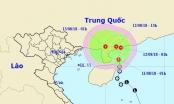 Áp thấp nhiệt đới di chuyển về phía đất liền Trung Quốc