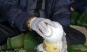 Làng gói bánh chưng lớn nhất Hà Nội tất bật vào vụ Tết