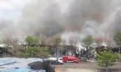 Cháy lớn thiêu rụi kho hàng chứa 18.000 tấn điều ở Bà Rịa - Vũng Tàu