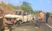 Đắk Nông: Phát hiện một thi thể chết cháy trong một ô tô nát trơ khung