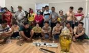 21 đối tượng đang sát phạt tại sòng bạc ven sông Đồng Nai