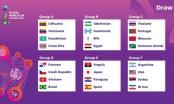 Đội tuyển futsal Việt Nam nằm cùng bảng với Brazil tại World Cup