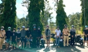 """Công an Đồng Nai """"cất lưới"""" bắt ổ đua xe trái phép trước nghĩa trang liệt sĩ tỉnh"""