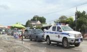 Cảnh sát giao thông Bình Phước dẫn đường cho người dân về quê tránh dịch