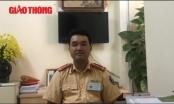 Video: Trung úy CSGT giơ chân nói gì?