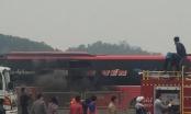 Thanh Hóa: Cháy xe khách, quốc lộ 1A tắc nghẽn hàng km
