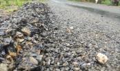 Tuyến đường 70 tỉ đồng tại huyện Ngọc Lặc vừa làm xong đã nát như tương