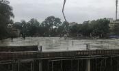 Ban QLDA quận Bắc Từ Liêm cho phép nhà thầu thi công trường THCS Thụy Phương… dưới mưa