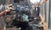 Xe khách tông trực diện xe tải, 1 người tử vong, 1 người cấp cứu trong tình trạng nguy kịch
