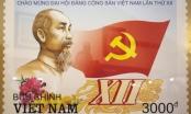 Phát hành bộ tem đặc biệt chào mừng Đại hội Đảng lần thứ XII