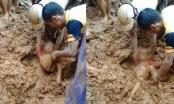 Đau đớn khi nhìn em bé Thanh Hóa 5 tuổi bị vùi trong đất lũ
