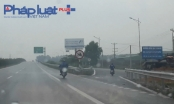 Cao tốc Bắc Giang - Hà Nội: CSGT đứng, xe máy vẫn vô tư chạy