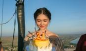Á hậu Thuỳ Dung đón sinh nhật sớm trên khinh khí cầu