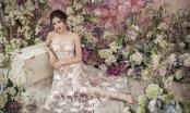 Diện váy xuyên thấu thêu hoa, Huyền My xinh đẹp như một nàng công chúa