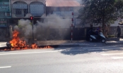 Hà Nam: Nam thanh niên đốt xe máy vì xin CSGT nhưng không được bỏ qua