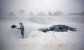 Hình ảnh nước Mỹ trắng xóa vì bão tuyết