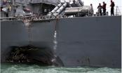 Tàu chiến Mỹ va chạm tàu chở dầu gần Singapore, 10 người mất tích