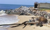 Bờ biển bị xâm thực, sạt lở nghiêm trọng tại Bình Thuận