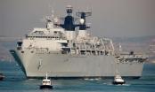 Tàu đổ bộ của Hải quân Anh áp sát quần đảo Hoàng Sa