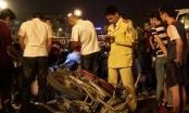 Xe điên gây tai nạn liên hoàn trên cầu vượt Thái Hà - Chùa Bộc