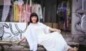 Long Nhật  mặc váy bồng bềnh, tạo dáng khó đỡ.