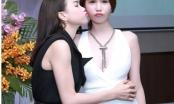 Ngọc Trinh hôn Trà Ngọc Hằng mừng ra MV 16+