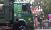 Hàng loạt hung thần xe tải ngang nhiên qua mặt UBND huyện Mỹ Đức