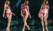 Phần trình diễn bikini bốc lửa của Phạm Hương trong đêm bán kết