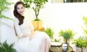 Hoa Hậu Đặng Thu Thảo đẹp tinh khôi với đầm lông vũ