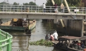 Sà lan 200 tấn chở cát chìm trên rạch sông Sài Gòn