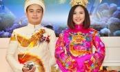 Sốc trang phục cưới hoàng bào lộng lẫy của diễn viên Vân Trang
