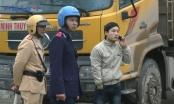 Đội TTGT Bắc Từ Liêm ra quân xử lý xe tải chạy giờ cấm