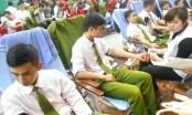 Công an Hà Nội hăng hái hiến máu cứu người